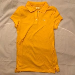 AEROPOSTALE COLLARED GOLD SHORT-SLEEVE BUTTON-DOWN